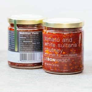 Tomato and white sultana chutney