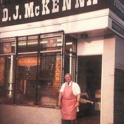 Robert Mckenna Outside His Shop